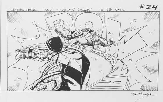 Inktober 2016 Day 28 X-Men story panel 24