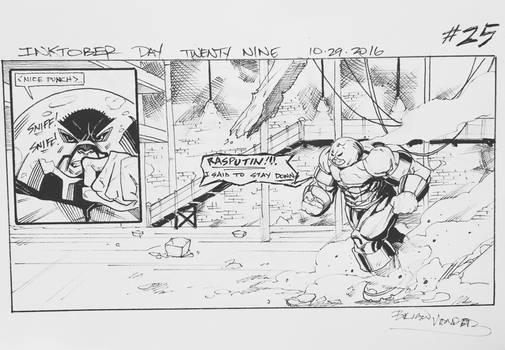 Inktober 2016 Day 29 X-Men story panel 25