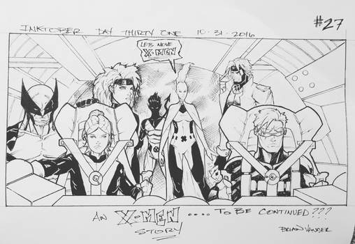 Inktober 2016 Day 31 X-Men story panel 27