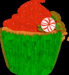 Christmas Cupcake Clip Art