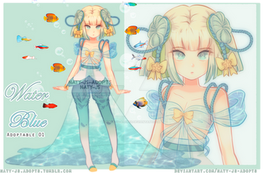 [OPEN] A01 -  Water Blue ~ by naty-js-adopts