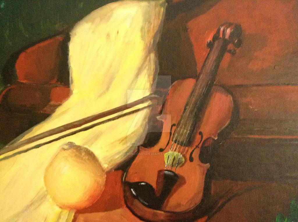 Violin Painting by Gemini-0601