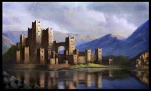 Lake castle rock by LMorse