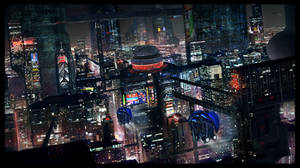 2732 nigh city by LMorse