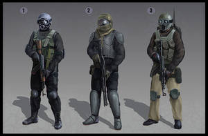 Special force character design 1-3