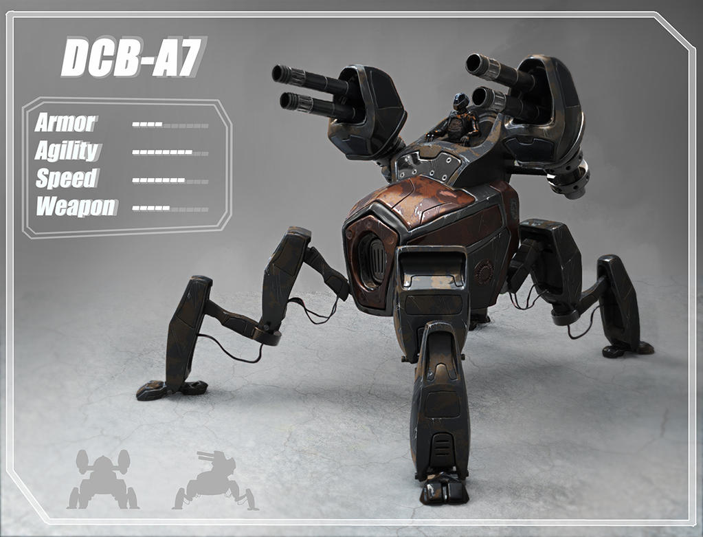 DCB-A7 concept mech by LMorse
