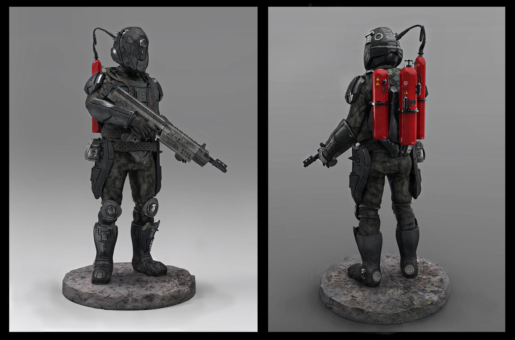 futuristic  sci fy soldier concept by LMorse
