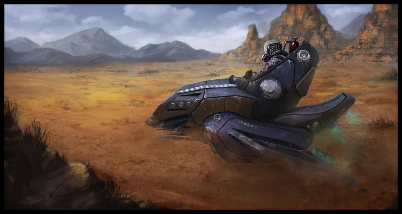 Futuristic chevrolet D 17- by LMorse