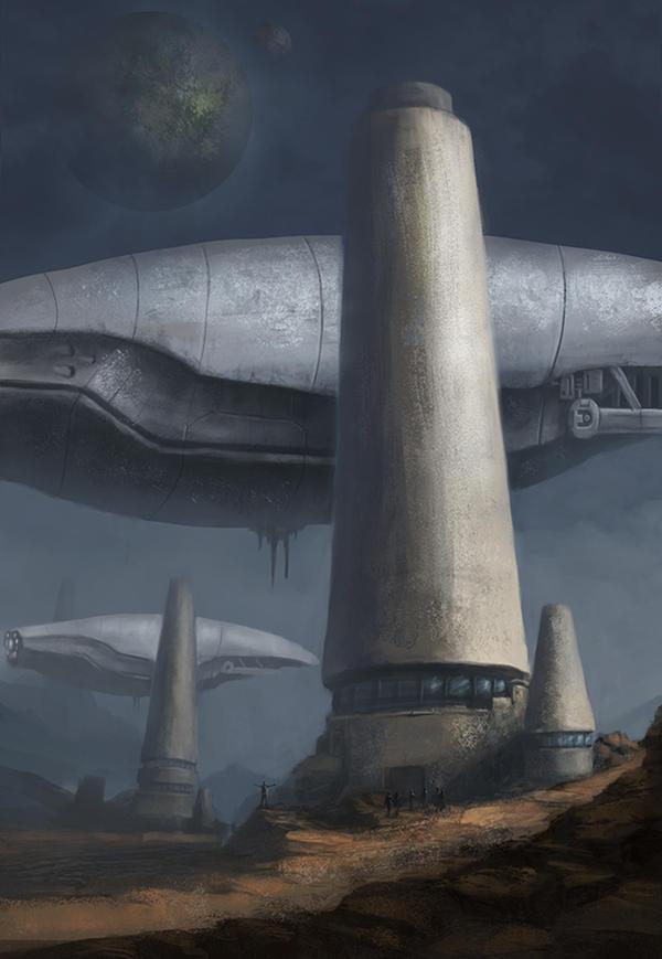 Futuristic monolith station by LMorse