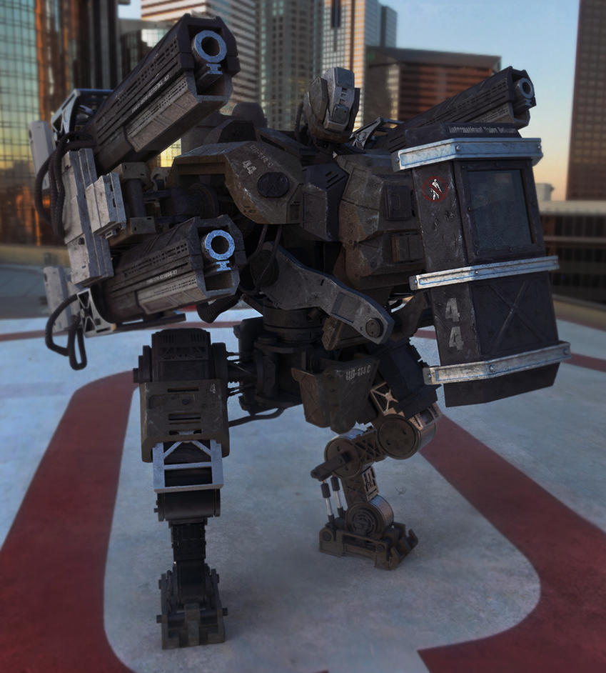 Union Defender mech - 44 by LMorse