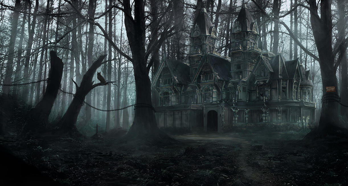 Creepy Forest Mansion By Lmorse On Deviantart