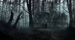 Creepy forest mansion by LMorse
