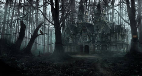 Creepy forest mansion