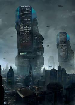 UET Tower cityscape