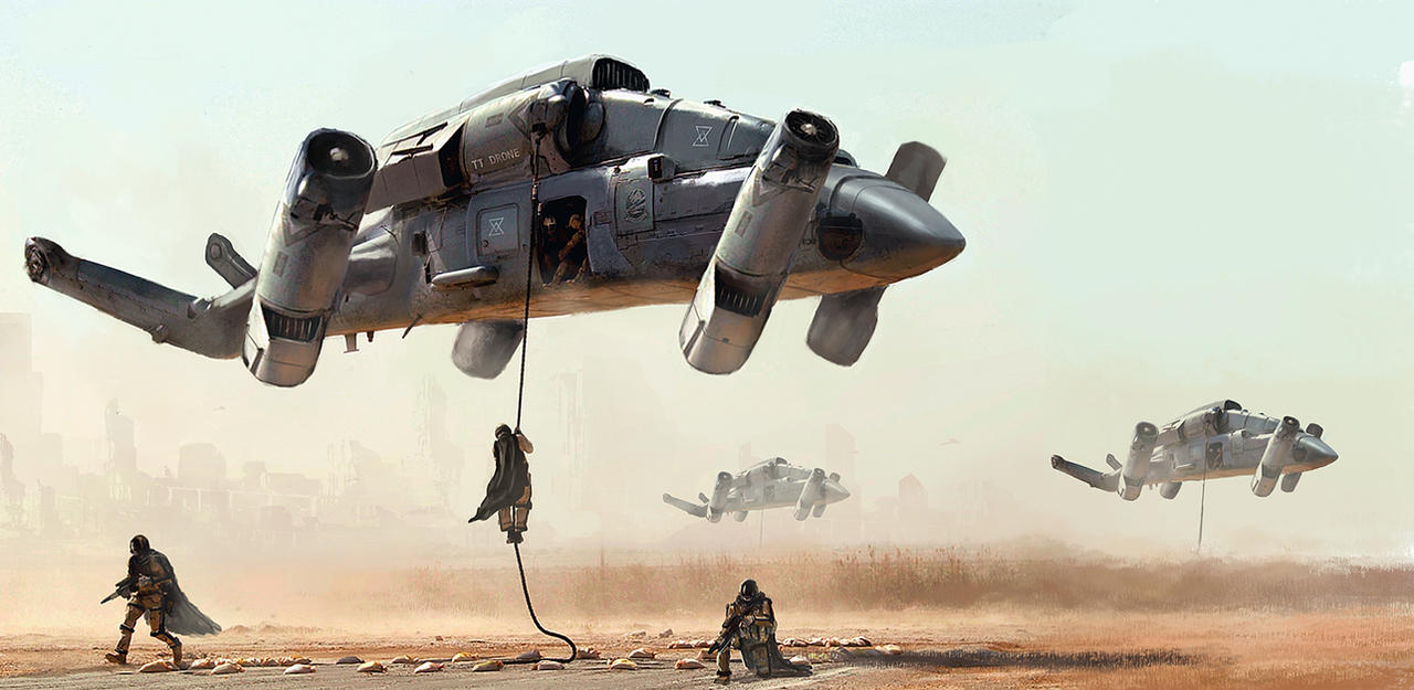 Military Transport Drone By LMorse On DeviantArt