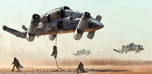 Military transport drone