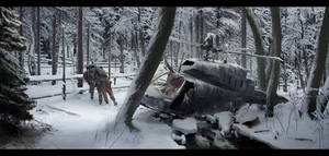 Abandoned 'Snowy forest'