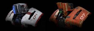 face/helmet droid by LMorse