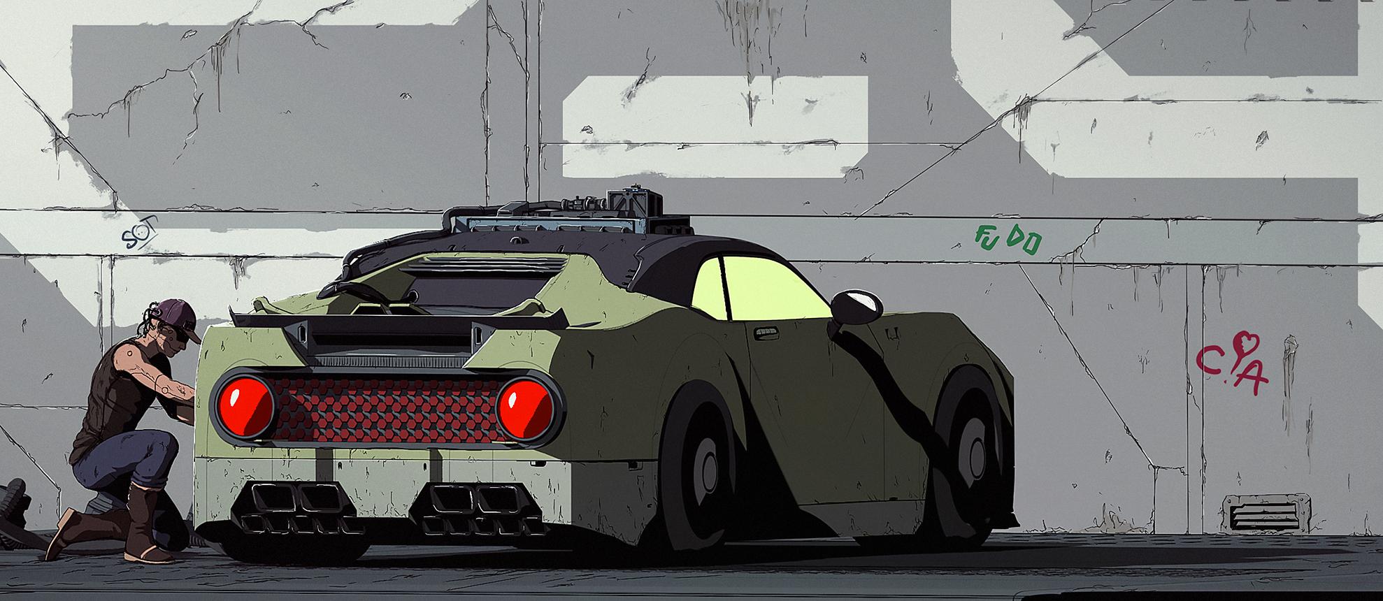 Car 07 Back comics