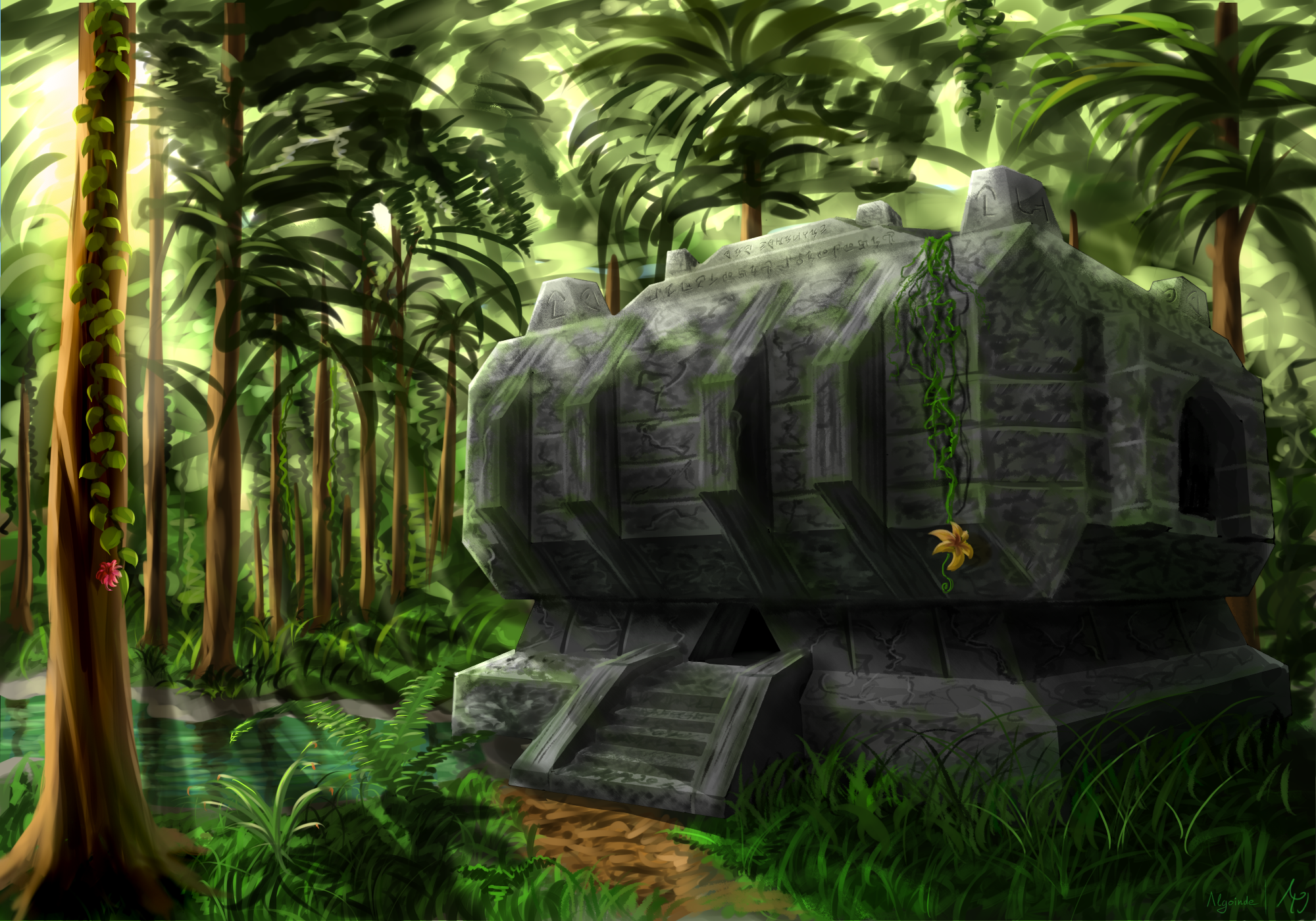 Must see Wallpaper Minecraft Real Life - minecraft_jungle_temple_by_algoinde-d7trjq8  Picture_70548.png