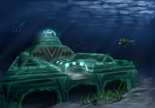 Minecraft Ocean Monument [14w25a snapshot]