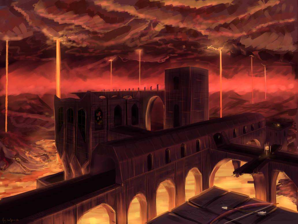 Minecraft Nether Fortress by Algoinde on DeviantArt