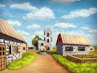 Minecraft Village by Algoinde
