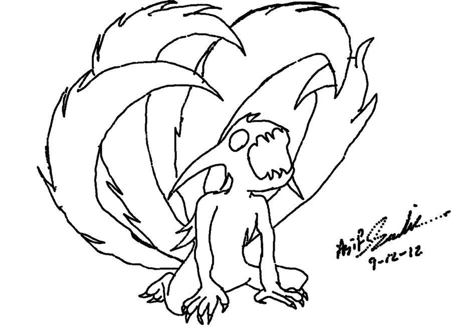 how to draw kurama chibi