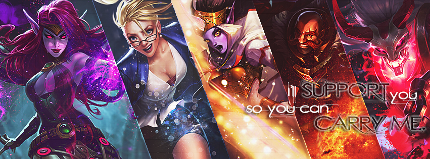 League of Legends // SUPPORT // Cover Facebook by gwannah on