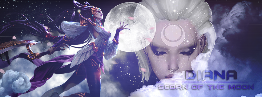 League of Legends // Facebook Cover Diana by gwannah on