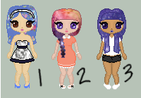 Pixel Adoptables by AlbinoSeaTurtle