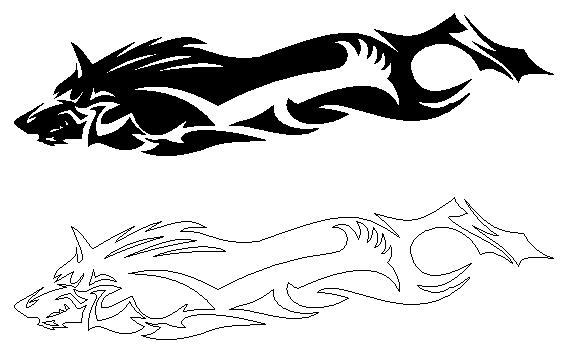 Twilight Princess Wolf Decal by Debochira