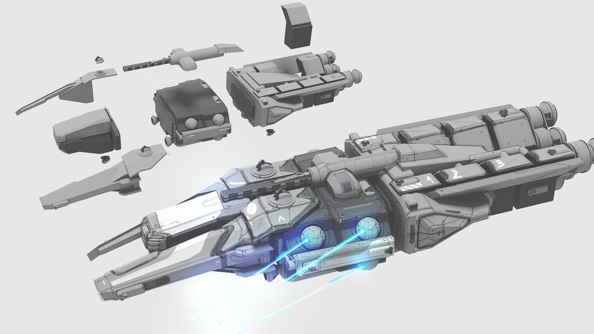 Modular ship 1 by ikarus-tm