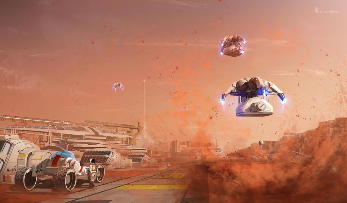 Building Mars by ikarus-tm