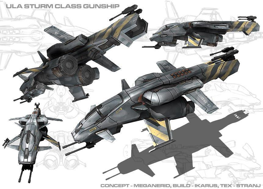 Sturm Class Gunship by ikarus-tm