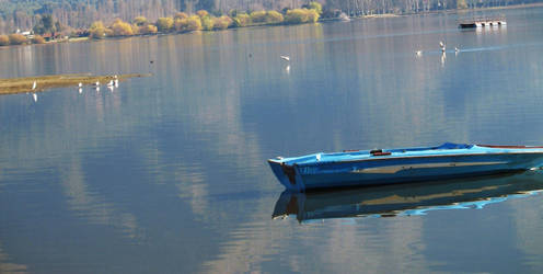 blue boat by Innerversion