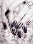 Heartagram Nail Art