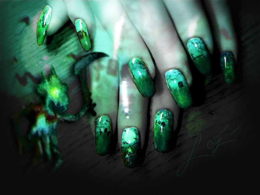 Fiddlesticks Nail Art