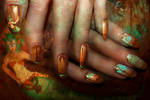 Cassiopeia League of Legends Nail Art