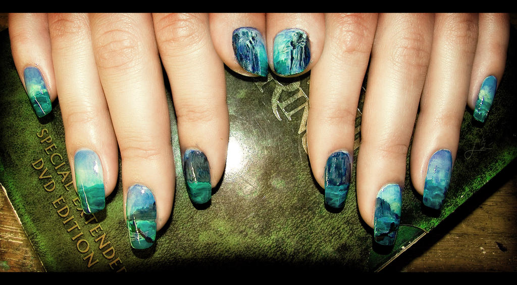 Passing of the argonath nail art by undomiele on deviantart passing of the argonath nail art by undomiele prinsesfo Images