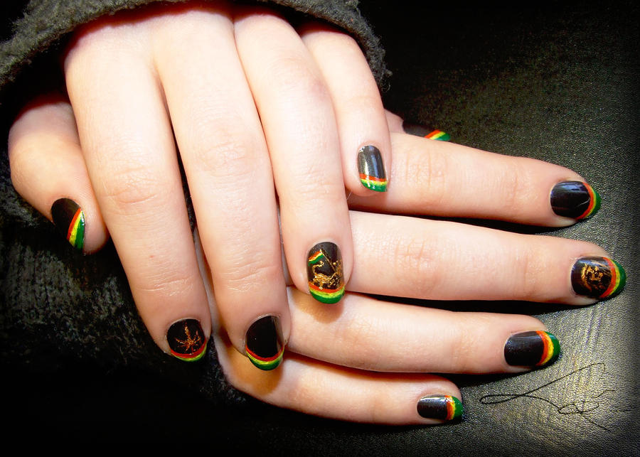 Rastaman style Nail Art by Undomiele on DeviantArt
