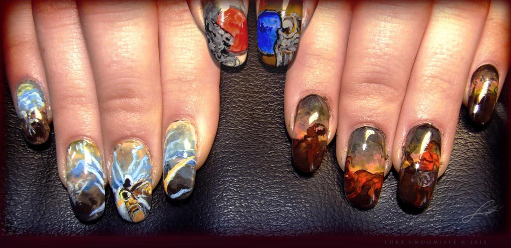 Diablo 3 tribute Nail Art by Undomiele