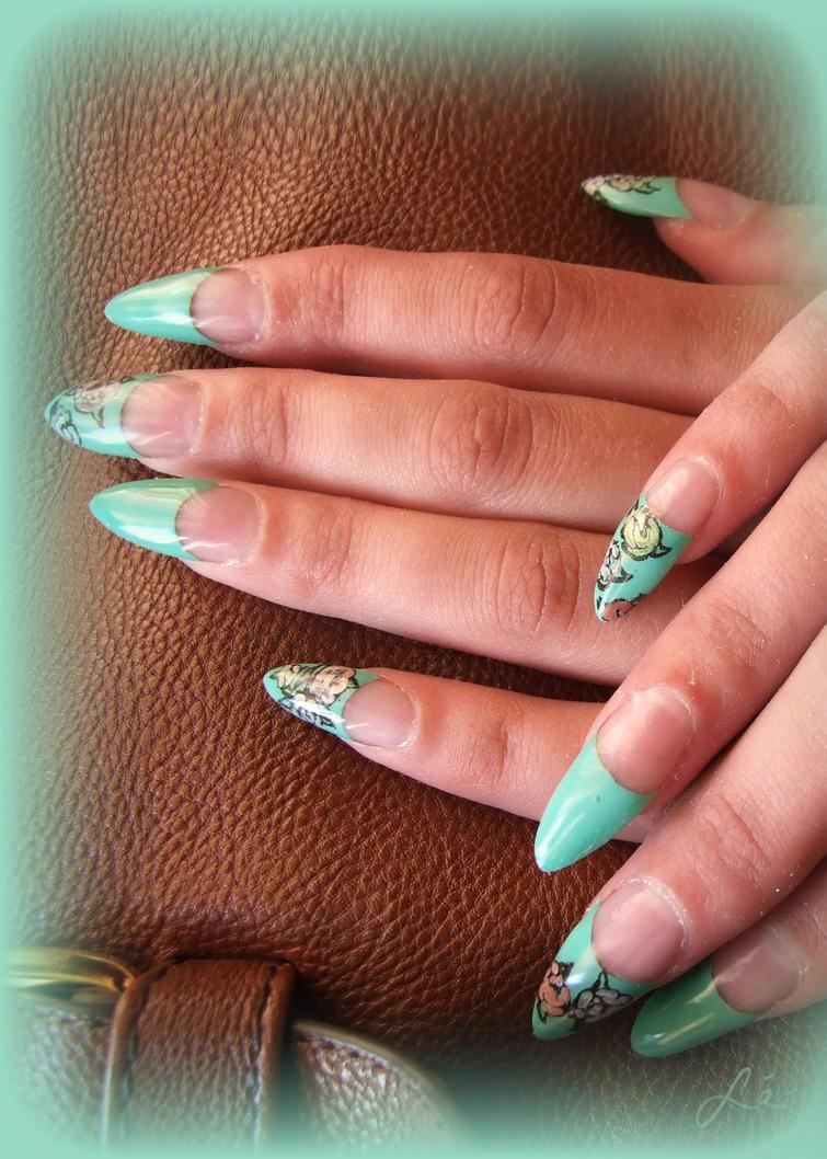 summer gel nails by undomiele on deviantart. Black Bedroom Furniture Sets. Home Design Ideas