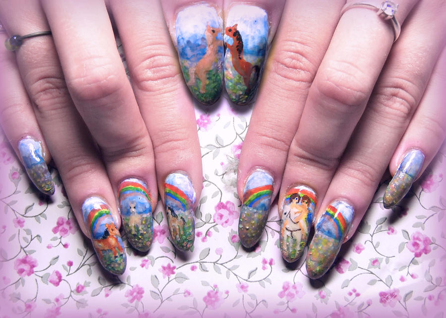 Pony Fairytale Nail Art by Undomiele on DeviantArt