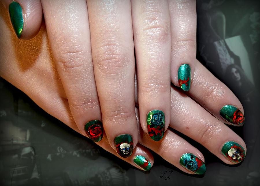 Tribal Gothic Nails By Undomiele On Deviantart