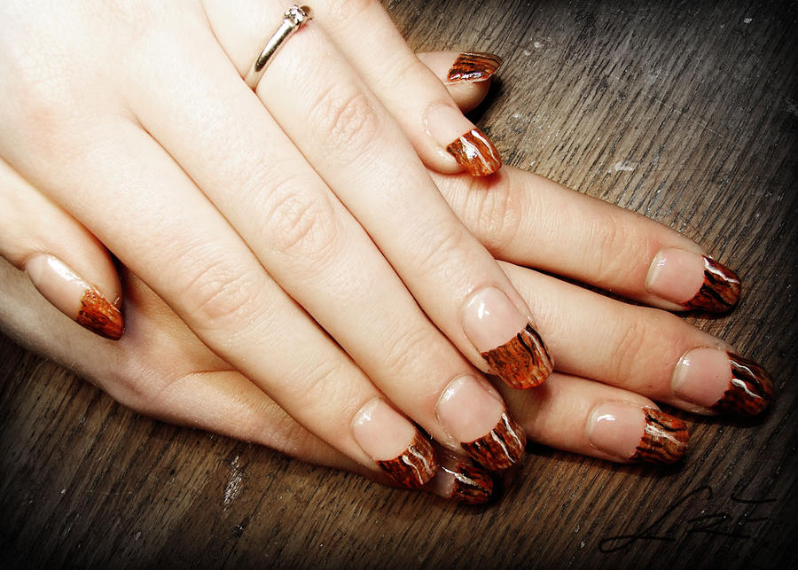 Wood texture gel nails by undomiele on deviantart wood texture gel nails by undomiele prinsesfo Images