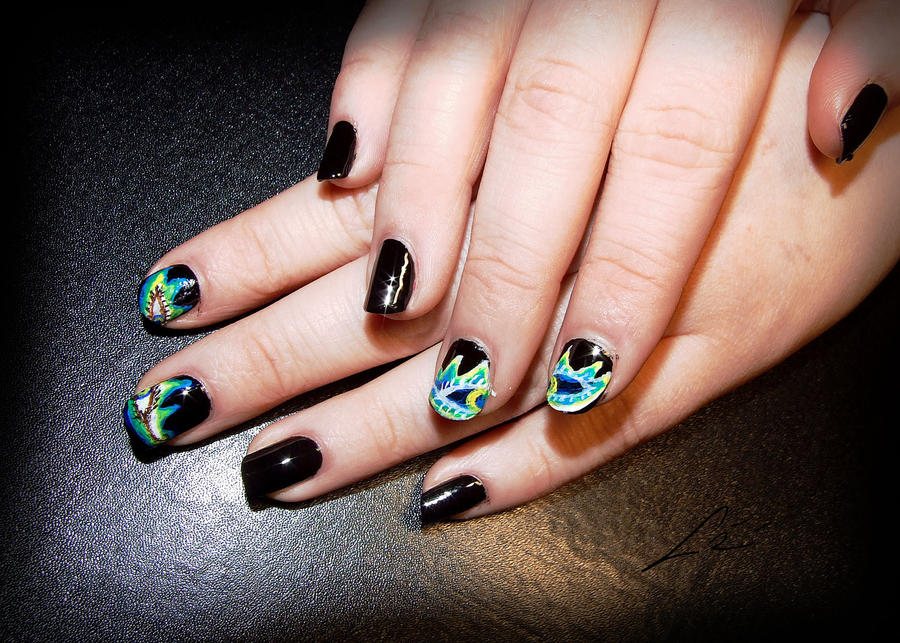 Nail art eyes ~ Beautify themselves with sweet nails