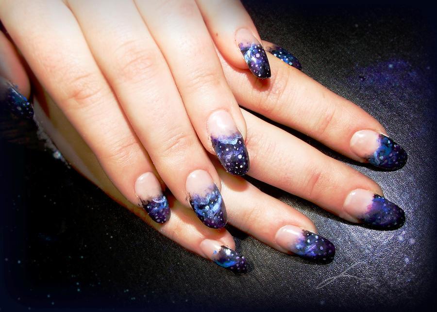 Galaxy Gel Nails by Undomiele on DeviantArt