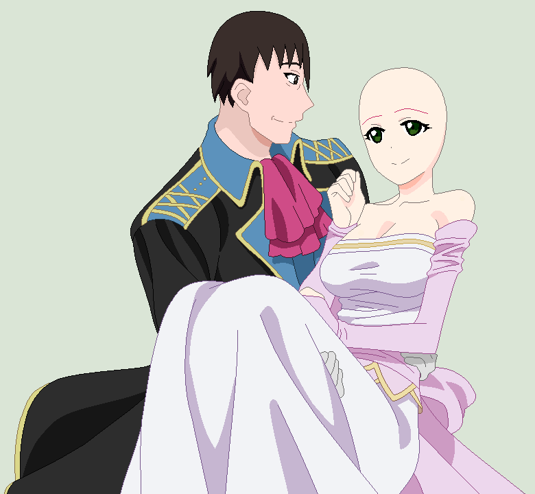 Collab-ManoMichi-Her Prince, His Princess by ShinanaEvangelian