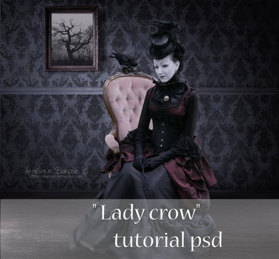 psd lady crow by Creamydigital